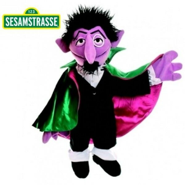 The Count   Hand Puppet   Sesame Street   72 cm   Plush   Soft Toy