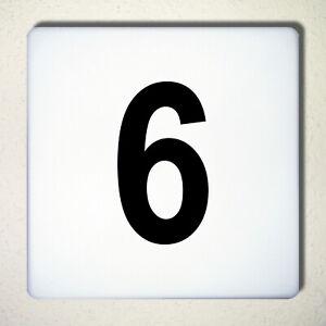 Chiffre-N-6-Noir-12cm-Nombre-Numero-de-Domicile-Maison-Etiquette-Tattoo-Deco-039