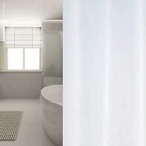Tenda doccia in tessuto bianco 240 ampiezza x 180 ALTO incl. anelli ...