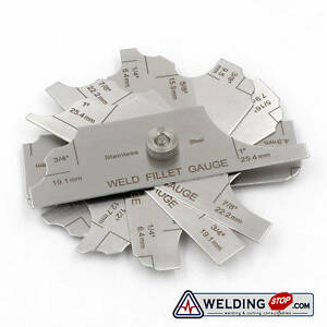 Welding-Fillet-Gage-Inch-amp-Metric-7-Pieces-MG-11-Measure-Tools-Inspection-Gauge