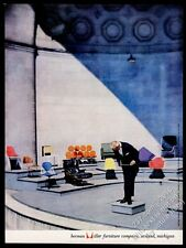 1958 Charles Eames lounge chair Coconut chair Marshmallow sofa Herman Miller ad