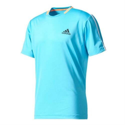 Adidas Mens Advantage Tennis Training Tee T Shirt Samba Blue XS XXL