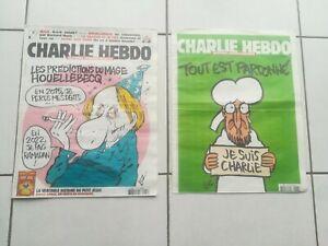 CHARLIE HEBDO N°1177 + N°1178 ORIGINAUX NO COPIES 07/01/15 COLLECTOR FRENCH MAG