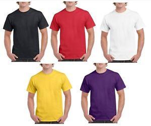 Men-039-s-Plain-Heavy-Cotton-T-Shirt-Heavy-Tee-Size-S-2XL-Bulk-10-20-30-50-100