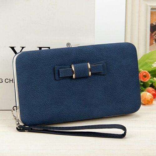 Women Lady Leather Wallet Purse Bag Box Clutch Handbag Long PU Holder Card Phone