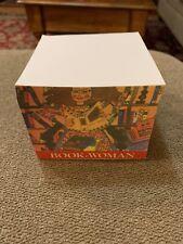 Vintage Book Woman Memo Desk Note Pad Paper Cube Jl