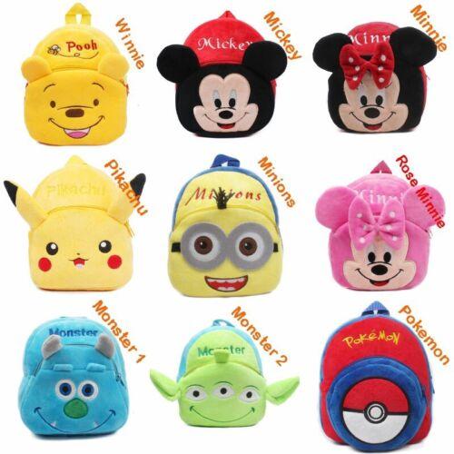 Kid Boys Girls 3D Cartoon Animal Backpack School Book Bag Chirld Travel Rucksack