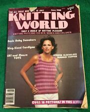 Vintage June 1982 Knitting World Magazine Crafts Patterns Tips Advice Women Men