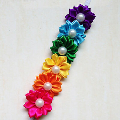1Pc Lovely Baby Toddler Girls Kids Pearl Six Flowers Hair Band Headband Hot Sale