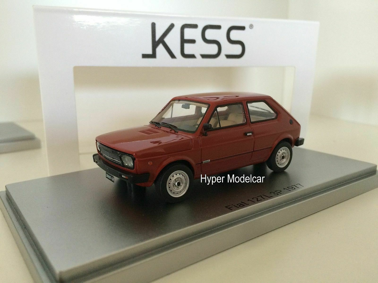 KESS Modelll 1 43 Fiat 127 2s 1977 Bordeaux  KE43010071