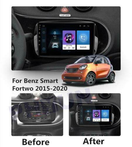 9/'/'Android 9.1 1GB 16GB Car Stereo Radio GPS WIFI For Benz Smart Fortwo 15-20