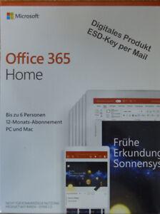 Office 365 Home - Microsoft 365 Family | 6Nutzer | Mehrere PC / Mac | 1Jhr | ESD