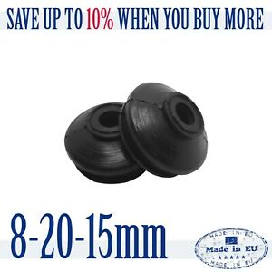 2X-Universal-HQ-Rubber-8-20-15-Track-Rod-End-Ball-Joint-Dust-cover-Tie-Rod-End