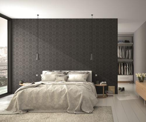 EUR 4,31//qm Tapete Rasch Ylvie 802450 Ornament Barock Anthrazit Schwarz Modern