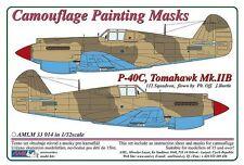 AML M33014 Maske 1/32 P-40C Tomahawk Mk.IIB Tarnfarbe lack masken Trumpeter