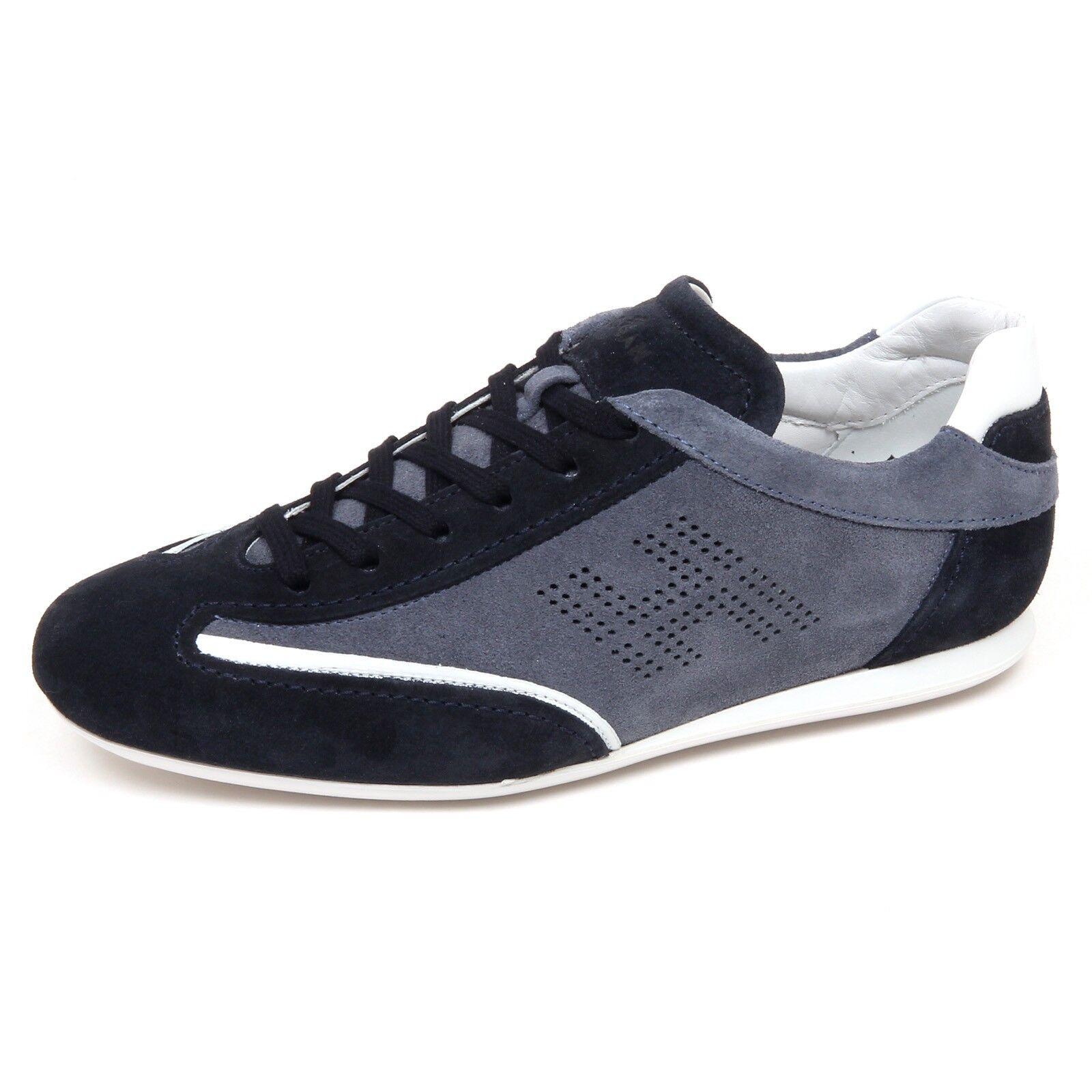 E9844 zapatilla de deporte hombres azul Avio HOGAN OLYMPIA SLASH H perforado Zapato hombre