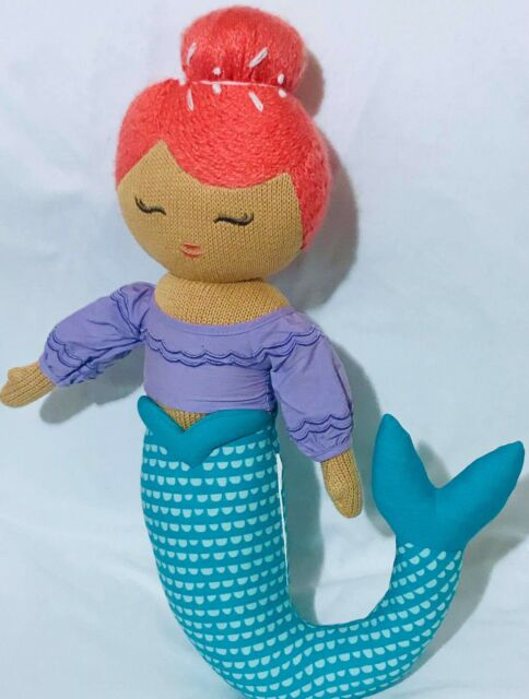 Pillowfort 2017 Mermaid Knit Decorative Pillow Plush Doll Discontinued Medium