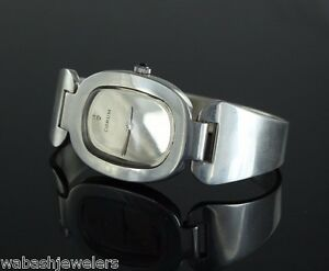 Rare-Vintage-Corum-Watch-Oval-Love-Bond-Silver-Hand-Winding-Unisex-Original-925