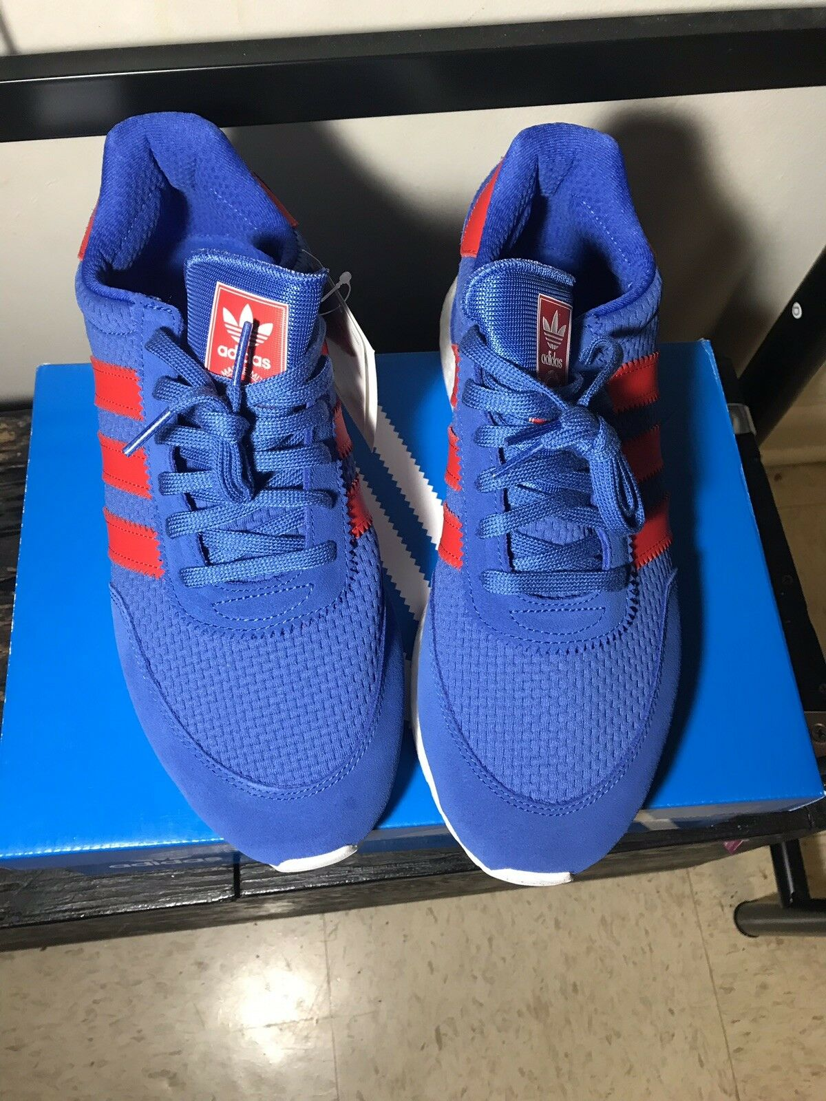 Adidas Originals Mens I-5923 Hi-Res bluee Solar Red - BRAND NEW IN BOX