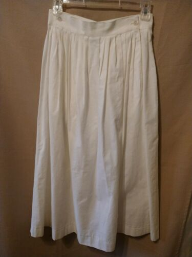 Vintage 80s or 90s White Laura Ashley Long Skirt … - image 1