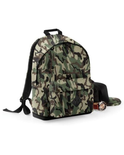 Camo Backpack Camouflage Bag Rucksack Cycling School Laptop Work Travel