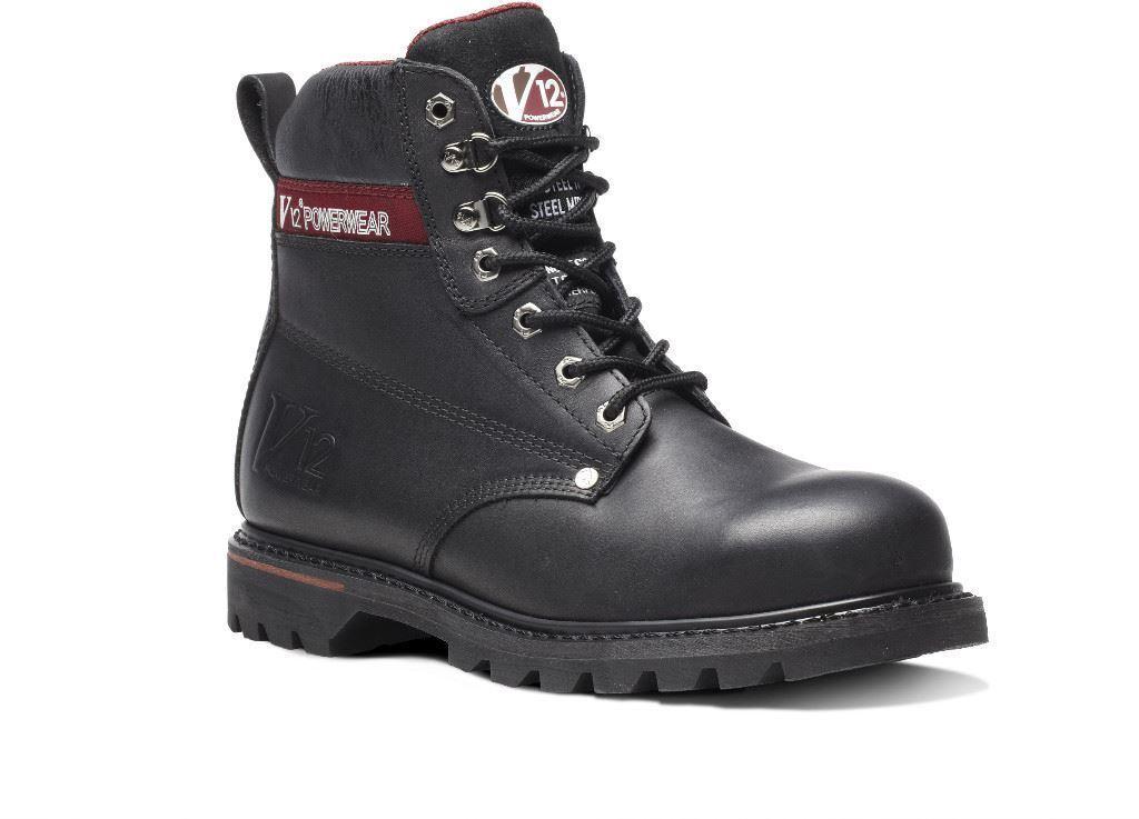 V12 Boulder Black S3 Derby Boot (Working Walking)