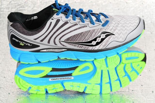 New Men's Saucony Breakthru 2 Running Shoe Gray Black Blue Sz 12.5 S20304 3 $100