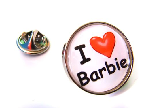 I LOVE BARBIE RETRO HEART LAPEL PIN BADGE TIE TACK GIFT