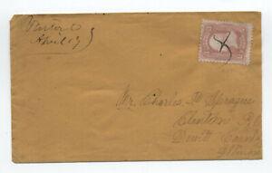 1860s-85-3ct-D-grill-cover-Vinton-Ohio-manuscript-cancel-with-PFC-y4126