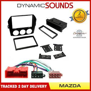 Black Single or Double Din Car Stereo Fascia Wiring Kit for Mazda MX-5 2006-2008