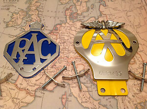 AA CAR BADGE WITH SERIAL NUMBER AND BAR BADGE FITTING COLLECTABLE AMD RAC BADGE