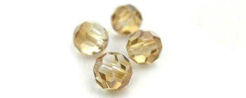 Crystal Celsian Half ctd Beads Preciosa Genuine Czech Round MC Faceted Crystals