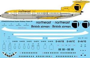 26Decals 1/144 Hawker Siddeley Trident  - Northeast Airlines decals