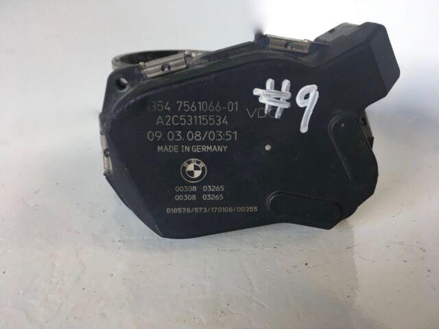 N43 Petrol Throttle Housing Body 7561066 - BMW 1 3 Series E8x E9x #9a