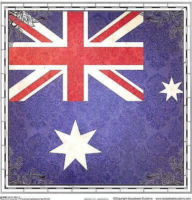 Scrapbook Customs - Australia Flag Scrapbooking Paper - 36326
