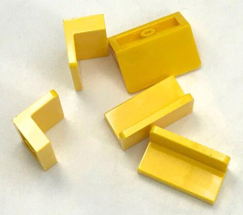 Lego 5 New Yellow Panels 1 x 2 x 1 Pieces