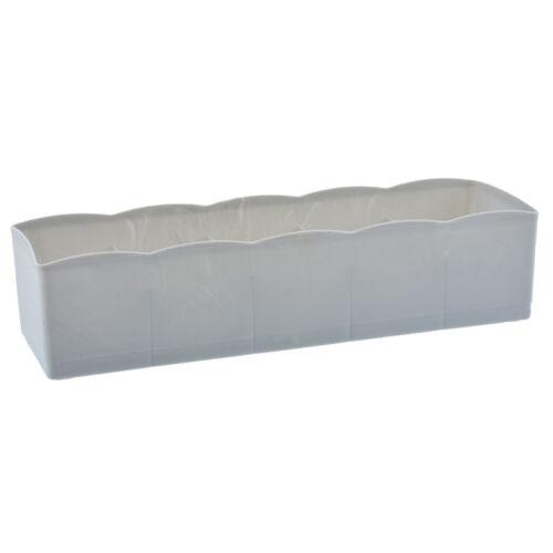 5-Fächer Kunststoff Socken Krawatten Dessous Unterwäsche Aufbewahrungsbox