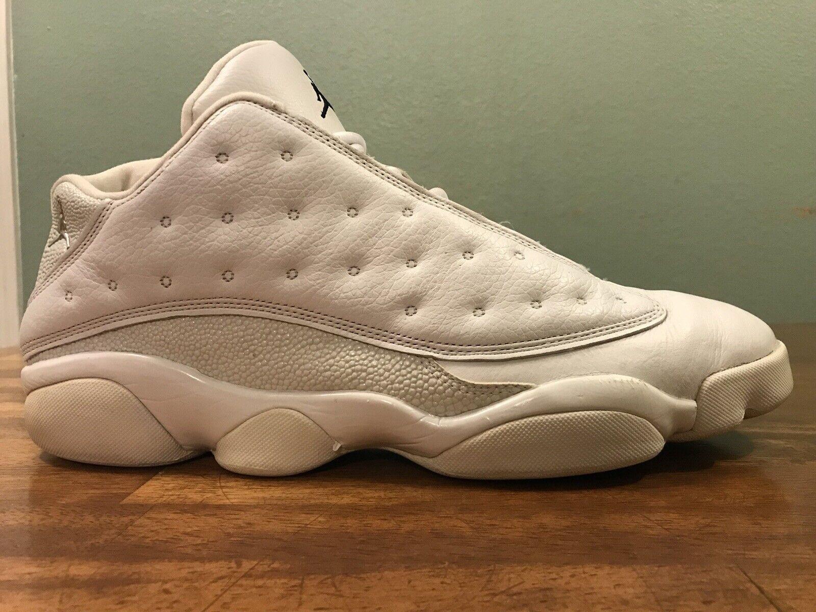 2005 Nike Air Jordan 13 Retro Low WHite Navy Ice blueee Men's Size 13