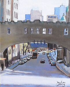 Montreal-Scene-University-Ave-8x10-Oil-Darlene-Young-Canadian-Artist