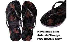 7df9e26d445872 New Havaianas Slim Animals Thongs COLOUR   FOG