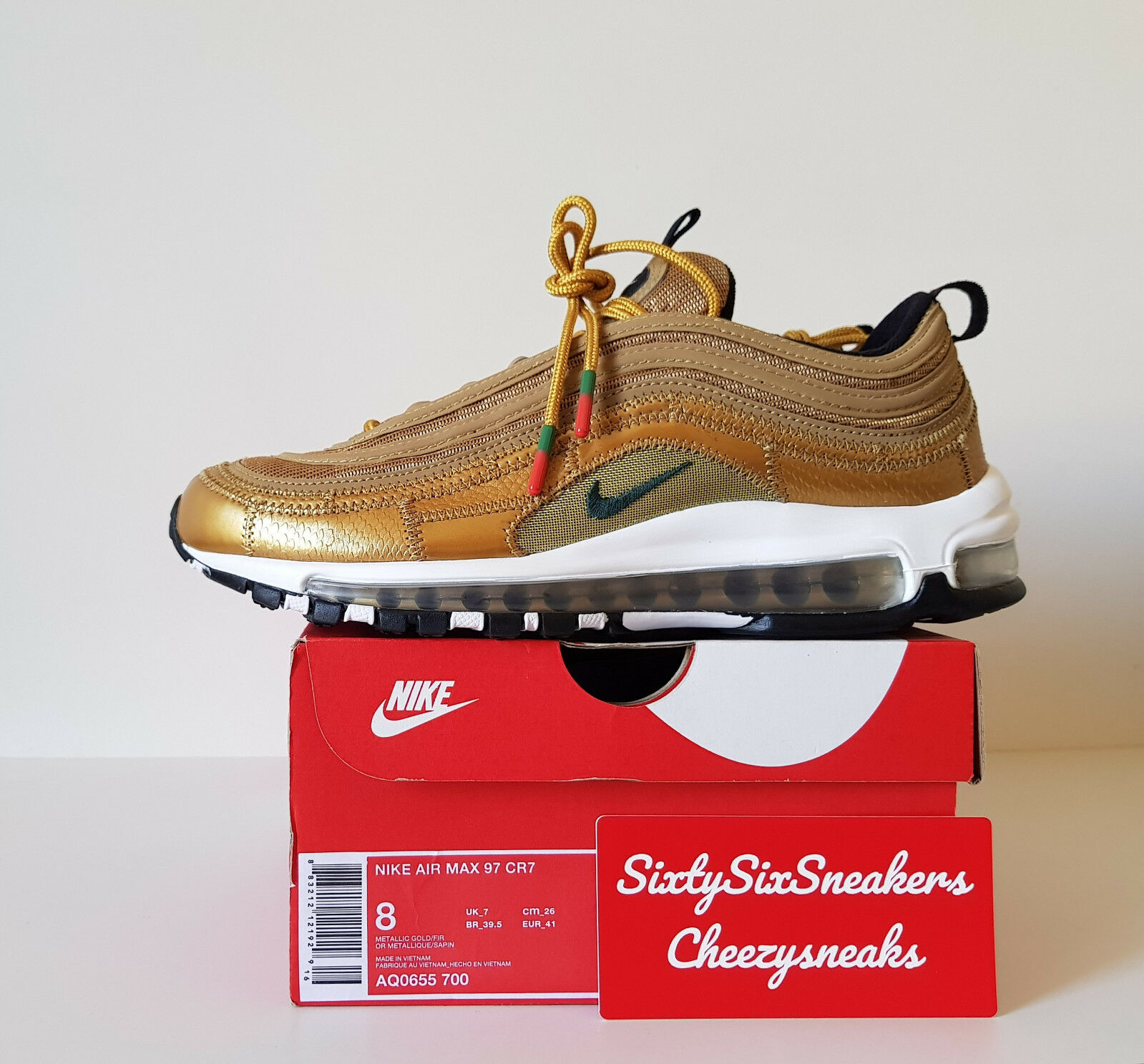Nike Air max 97 CR7 gold TZ  8US 7New DS