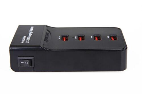 4-Port 5V 5A USB Fast Charging Power Station Charger for Smartphones /& Tablets
