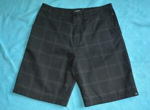 QUIKSILVER-Surfwear-BLACK-Grey-Check-Dressy-SHORTS-Size-36-034-92cm-AS-NEW