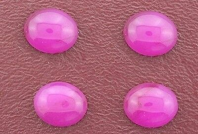 FOUR 16mmx 12mm 16x12 Oval Pink Red Jade Cab Cabochon Gem Stone Gemstone PRJC2