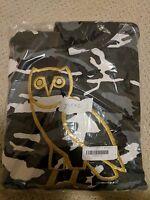 Drake Ovo (october's Very Own) Golden Owl Logo Hoodie Black Camo - Medium