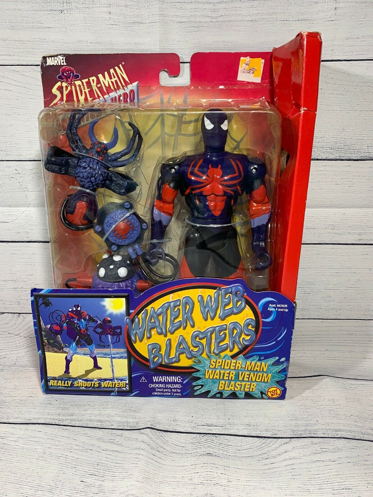 Toy Bix Marvel Spiderman Water Web Blaster  Water Venom Blaster Ny I Box Herregud