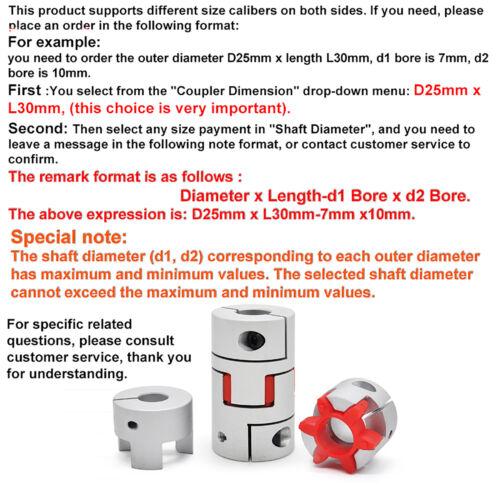 Klauenkupplung flexibel CNC 45mm Coupler All Wellendurchmesser Wellenkupplung