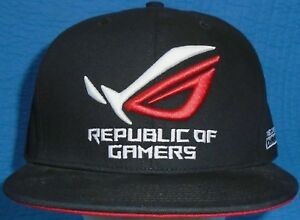 Image is loading Black-Republic-Of-Gamers-Logo-Embroidered-baseball-hat- 66bf40a99e9