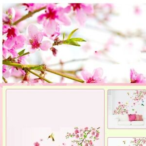 0d8bd99f7 Image is loading Large-Cherry-Blossom-Flower-Butterfly-Tree-Wall-Sticker-