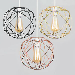 Geometric sphere led ceiling pendant light shades black copper gold image is loading geometric sphere led ceiling pendant light shades black aloadofball Image collections